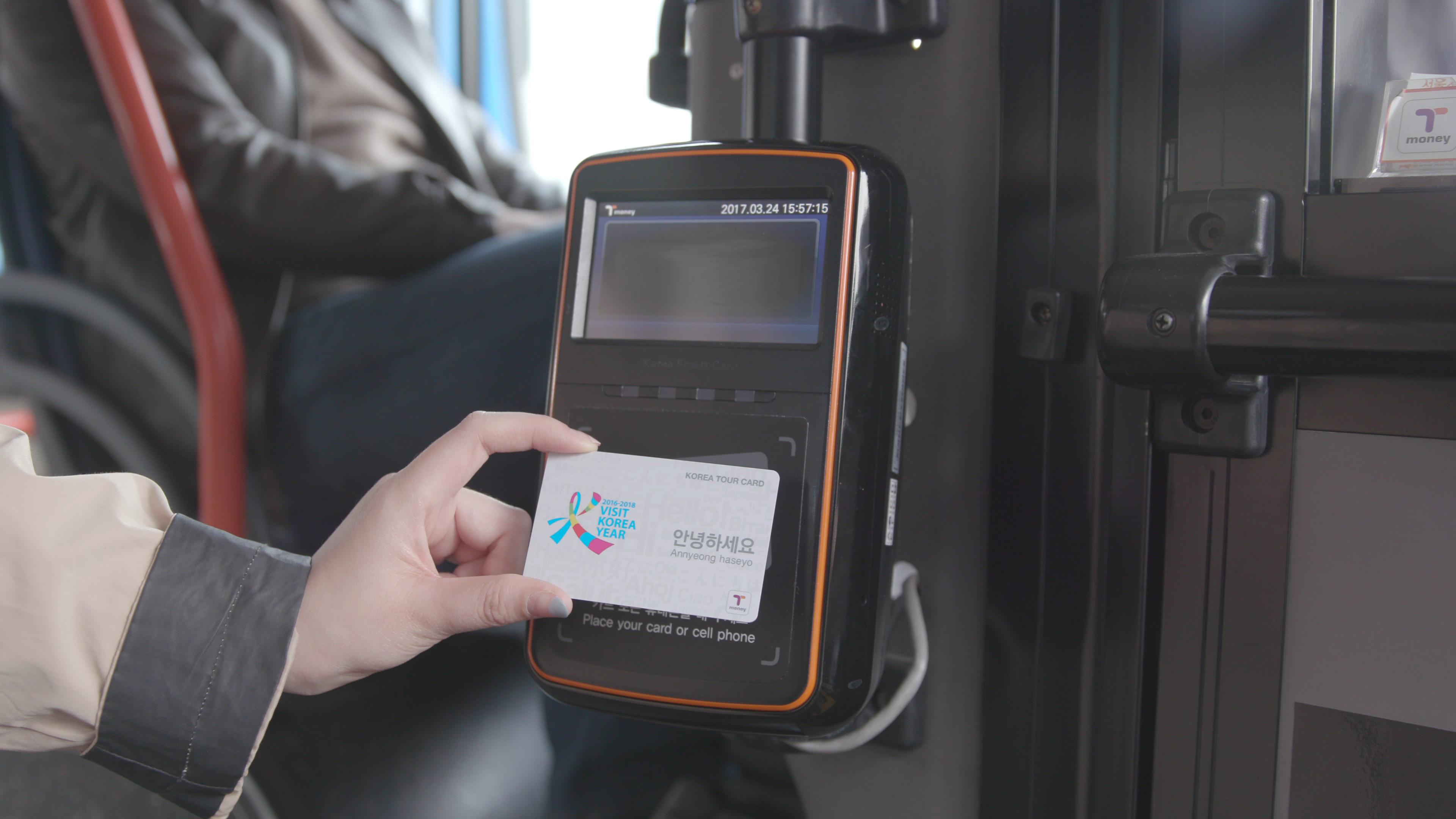 코리아투어카드_버스 등 교통수단 이용사진