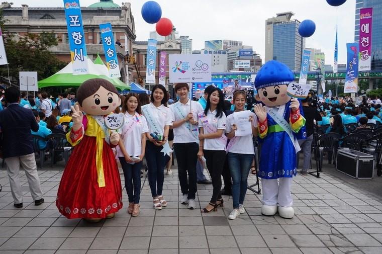K스마일 캠페인에 함께한 대학생 미소국가대표들